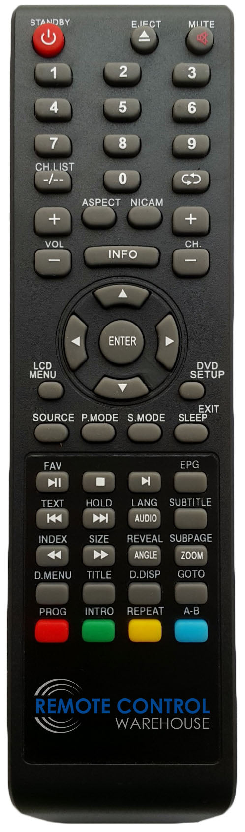GRUNDIG REPLACEMENT REMOTE CONTROL - GLCD1906HDV LCD TV - Remote Control Warehouse