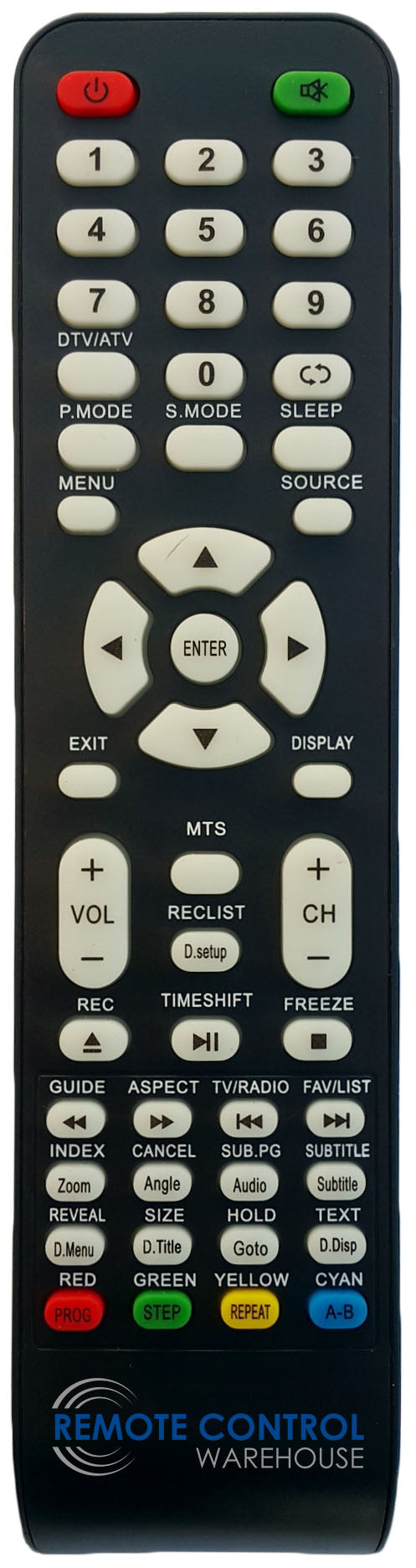 REPLACEMENT GVA REMOTE CONTROL FOR GVA G24TDC12V15 DVD COMBO TV - Remote Control Warehouse