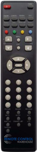 RANK ARENA REPLACEMENT REMOTE CONTROL - RANK ARENA TL3291 LCD TV - Remote Control Warehouse