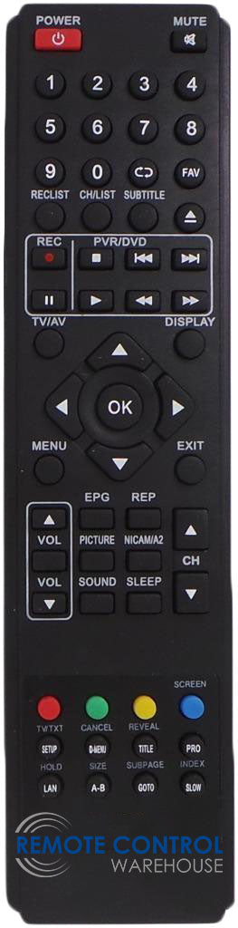 NU-TEC NUE2163 DVDCOMBO LCD TV REPLACEMENT REMOTE CONTROL
