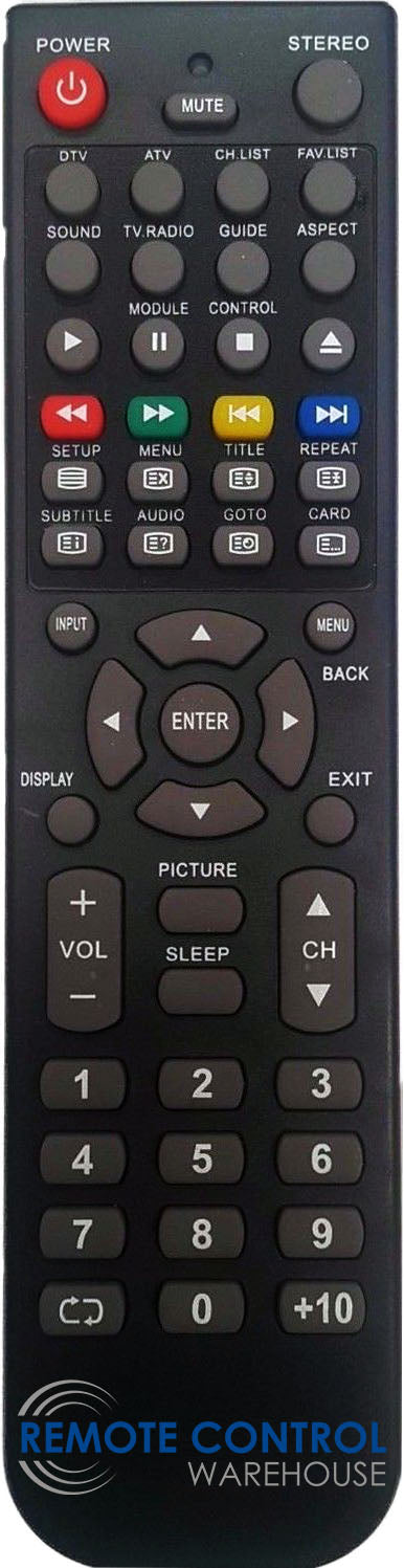REPLACEMENT TEAC REMOTE RC6182 RC-6182 LCDV1955HD LCDV2255HD LCDV2655HD LCDV3255HD