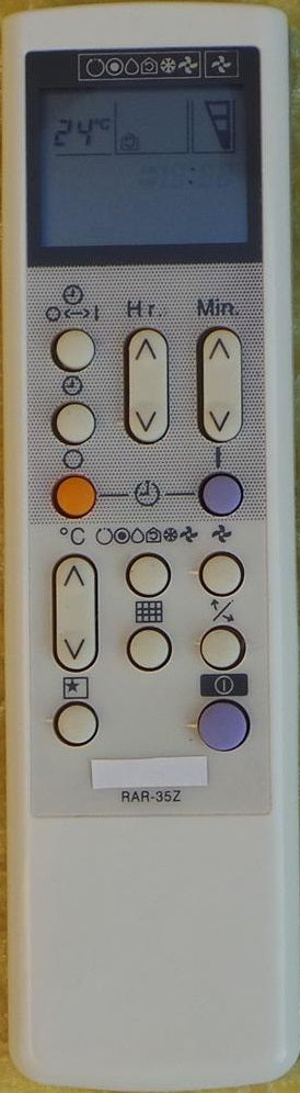 REPLACEMENT HITACHI Air Conditioner Remote Control - RAR-35Z - Remote Control Warehouse