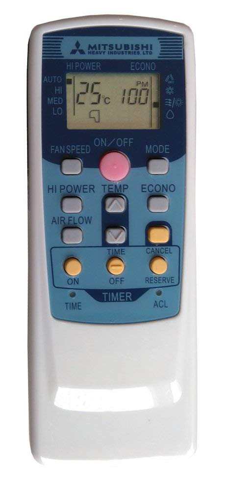 ORIGINAL MITSUBISHI AIR CONDITIONER REMOTE CONTROL - RMA502A001F - Remote Control Warehouse
