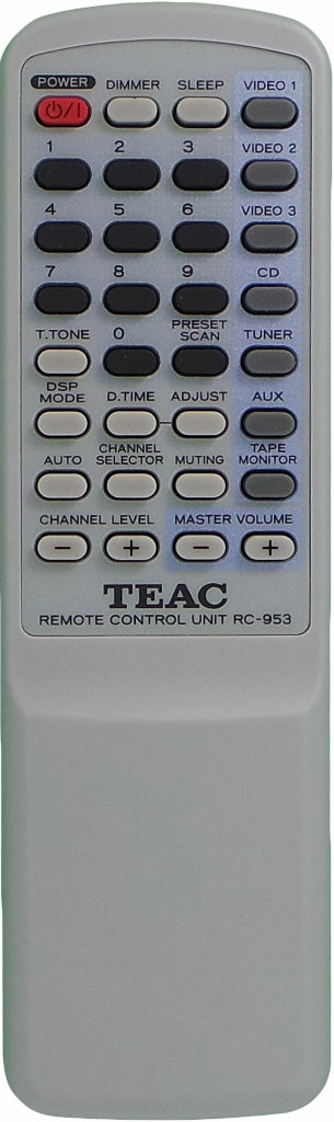 Original TEAC Remote Control RC-953 - AG-D8000 AGD800 AV Receiver - Remote Control Warehouse