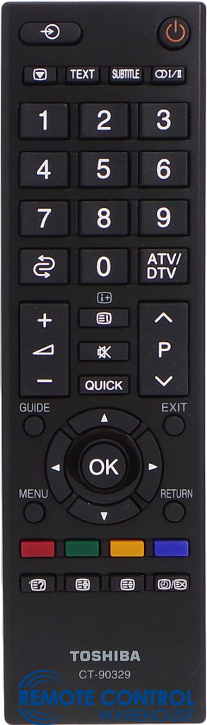 ORIGINAL TOSHIBA REMOTE CONTROL CT- 90329 CT90329 - 22AV600A 26AV600A 32AV600A 37AV600A   TV - Remote Control Warehouse