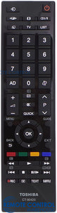 ORIGINAL TOSHIBA REMOTE CONTROL CT90420 REPLACE CT-8067 - 49L3750A  55L3750A LCD TV - Remote Control Warehouse