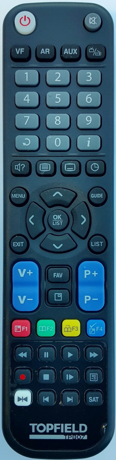 ORIGINAL TOPFIELD REMOTE CONTROL  TP807 -  TF7100HDPVRT PLUS  TRF7160  TRF7170  TRF-7260 PLUS  TPR5000  DVR PVR  RECORDER - Remote Control Warehouse