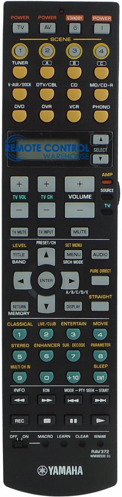 ORIGINAL YAMAHA REMOTE CONTROL RAV372 WM88530 EU - Remote Control Warehouse