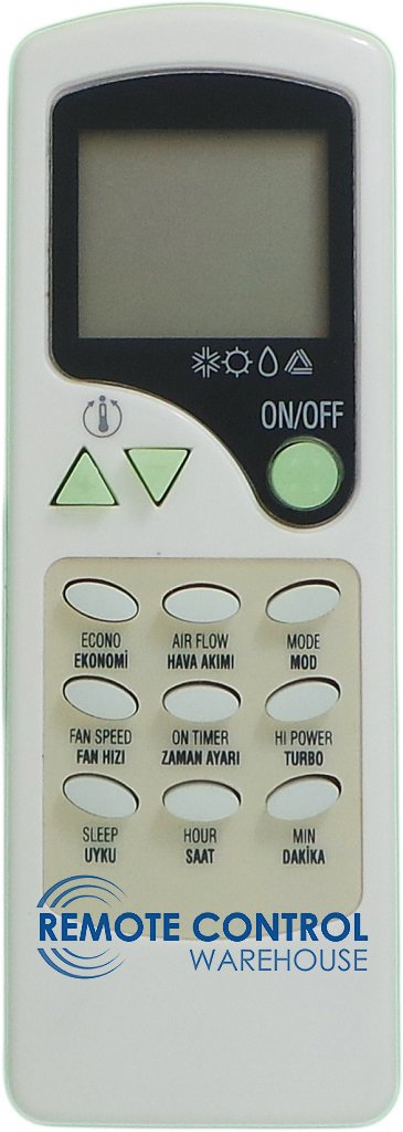 KOCH AIR CONDITIONER REMOTE CONTROL - ZH/LW-03 ZH/LW03 - Remote Control Warehouse