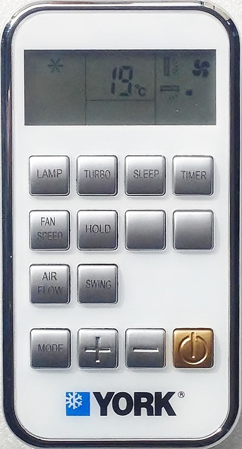 Original YORK Air Conditioner Remote Control - ZH/TT-02  ZH/TT02 - Remote Control Warehouse