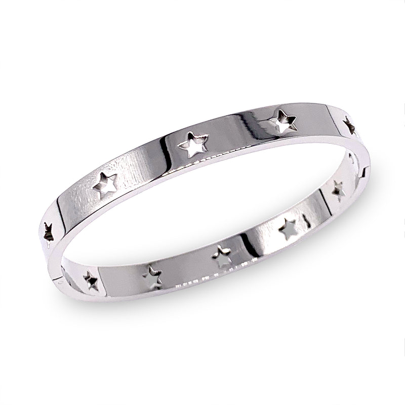 Osa Mayor which is a Stainless Steel Bangle Bracelet in Rhodium Plated with stars design.