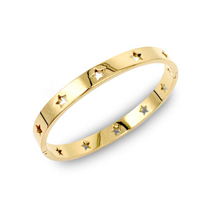Osa Mayor which is a Stainless Steel Bangle Bracelet in Gold Plated with stars design.