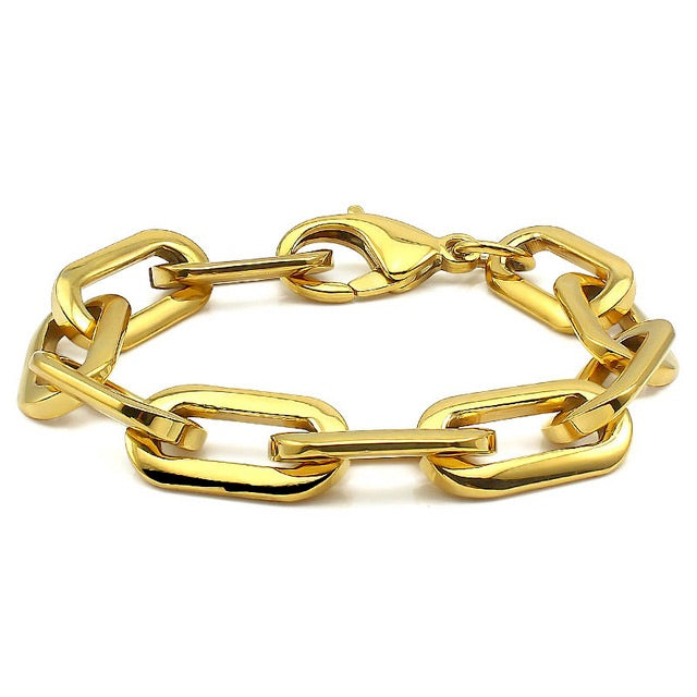 PUERTO CHAIN BRACELET in Gold Plated Stainless Steel  chain.