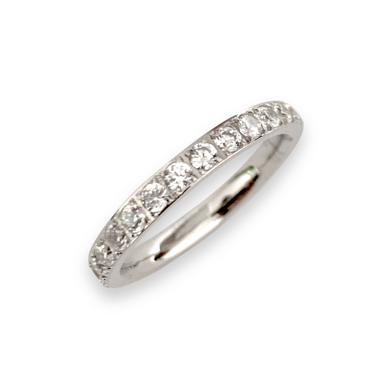 WRAPAROUND ring which is a Rhodium plated Stainless steel with Swarovski Crystals.