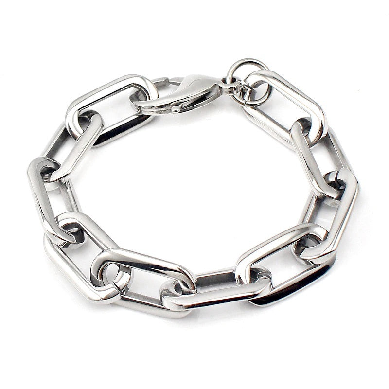 PUERTO CHAIN BRACELET in Stainless Steel Rhodium Plated Chain.