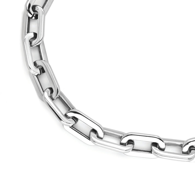 Puerto Silver set which comes with a Puerto Chain necklace and bracelet in rhodium plated stainless steel.