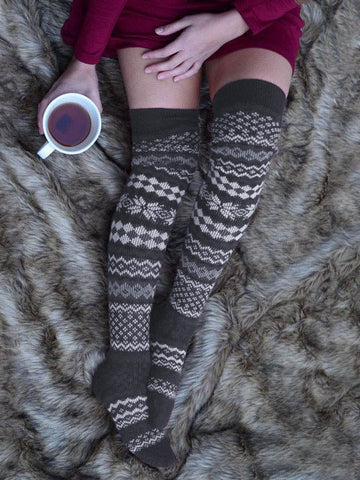 Fashion Thickened Tights Printed Stockings Accessories