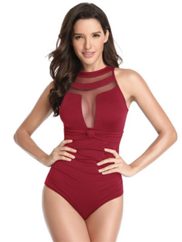 Tulle One-piece Swimwear