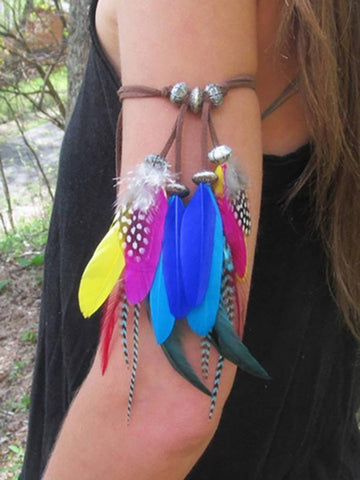 Indian Vintage Color Feather Arm Chain Accessories