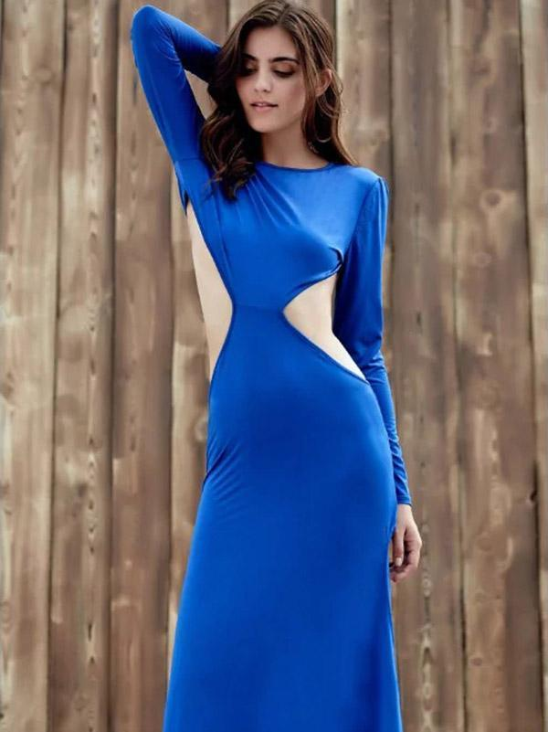 Backless Split-side Evening Dress