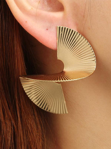 Vintage S-shaped Earrings Accessories