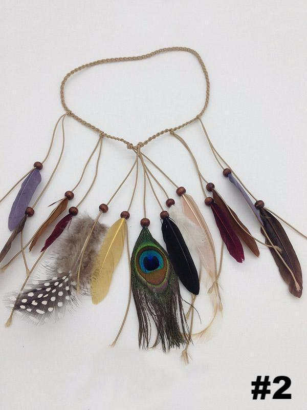 Peacock Feathers Headwear Accessories