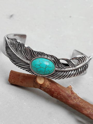 Retro Feather Turquoise Bracelet Accessories