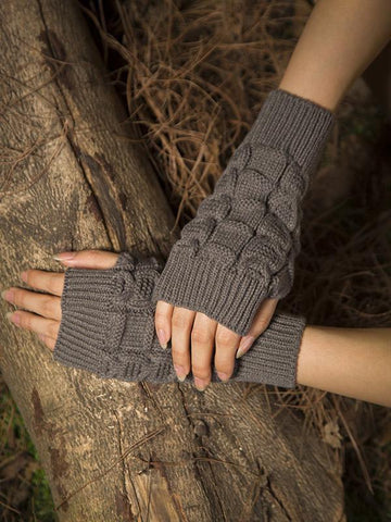 Fashion Warmer Half-finger Wrist Gloves Accessories