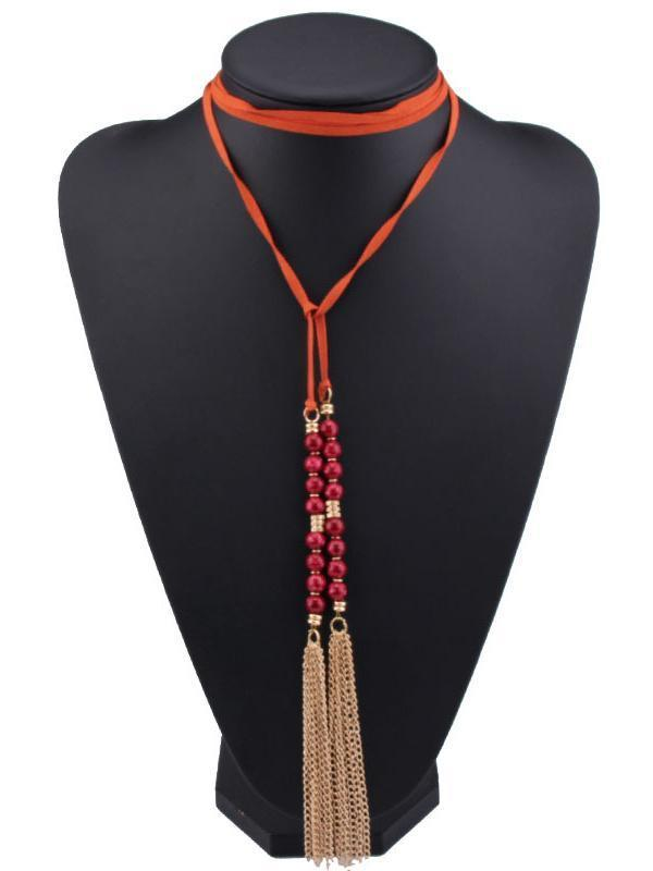 Bohemia Tassels Resin Beads Necklaces Accessories