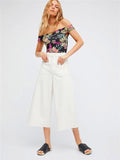 Sexy Fashion Floral-Print Off-Shoulder Slim Fit Jumpsuits Bottoms
