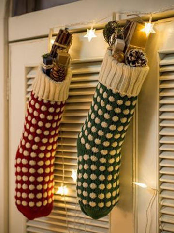 Christmas 2 Colors Socks Decoration