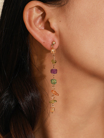 Candy-colored Tassel Earrings Accessories