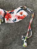 Off-the-shoulder Floral Bandeau Bikini