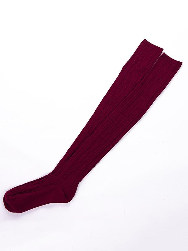 Knitting Over Knee-high 5 Colors Stocking