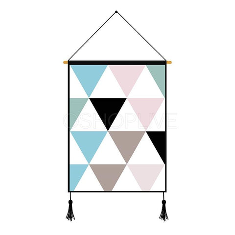 Colorful Geometric Pattern Printed Wall Hanging Decoration