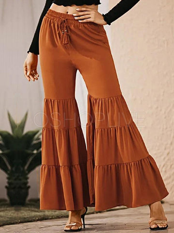 Leisure Loose Solid Statement Pants