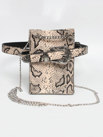 Snake Pattern Strap Change Purse