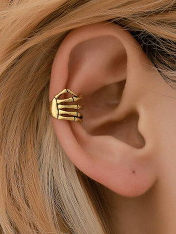 Skeleton Hand Spine Ear Clip Accessories