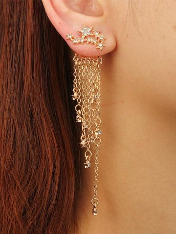 Tasseled Alloy Earrings Accessories