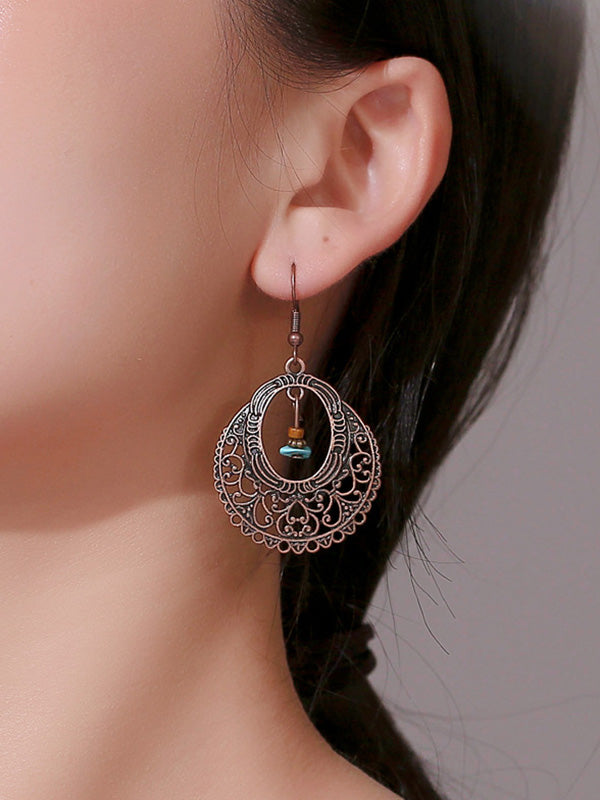 Vintage Hollow Carved Pattern Earrings