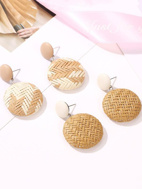Ethnic Wind Weave Paper Earrings Accessories