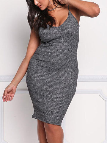 Stylish Slim Plus Size Mini Dress