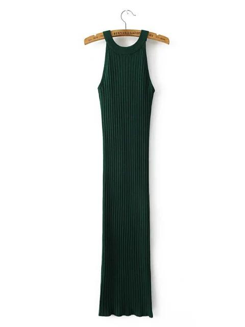 Sexy Elastic Over Hip Split-side Midi Dresses