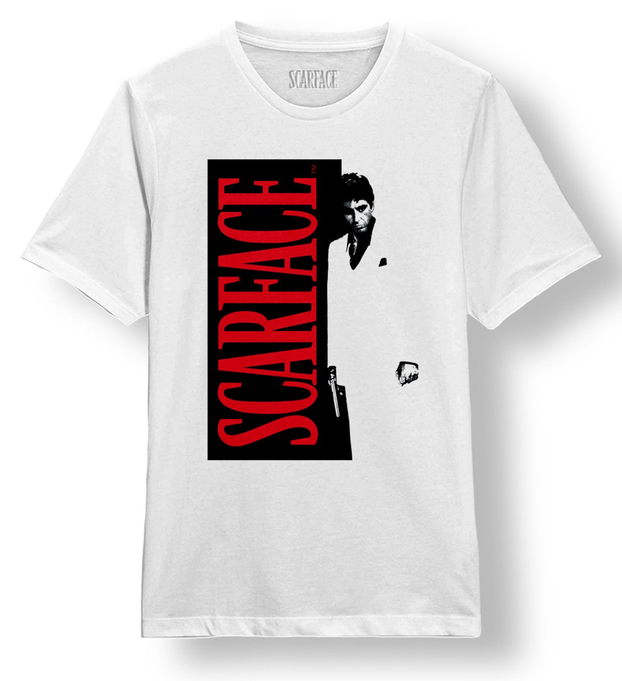 Scarface Split White Tee