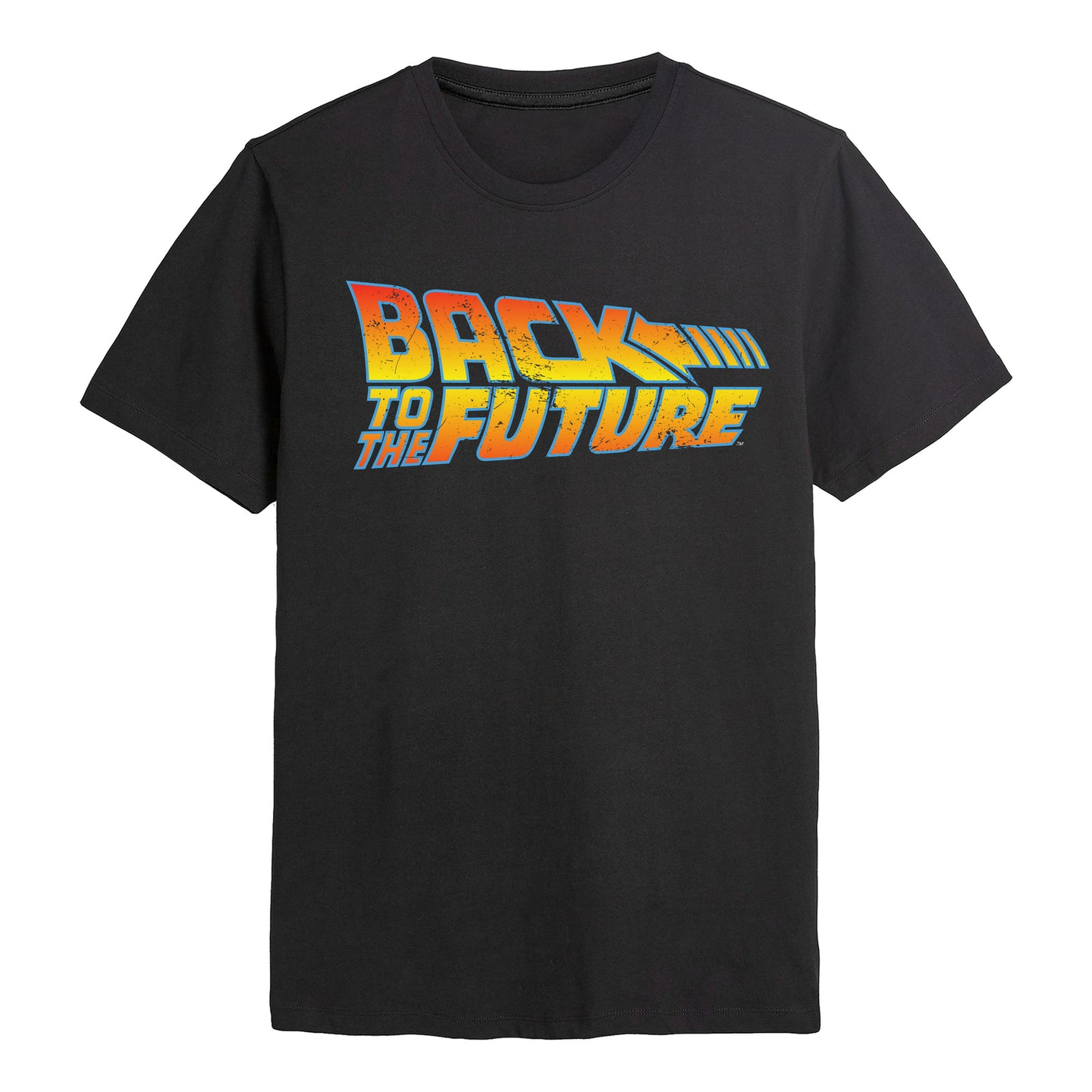 Back To The Future Logo Black Tee