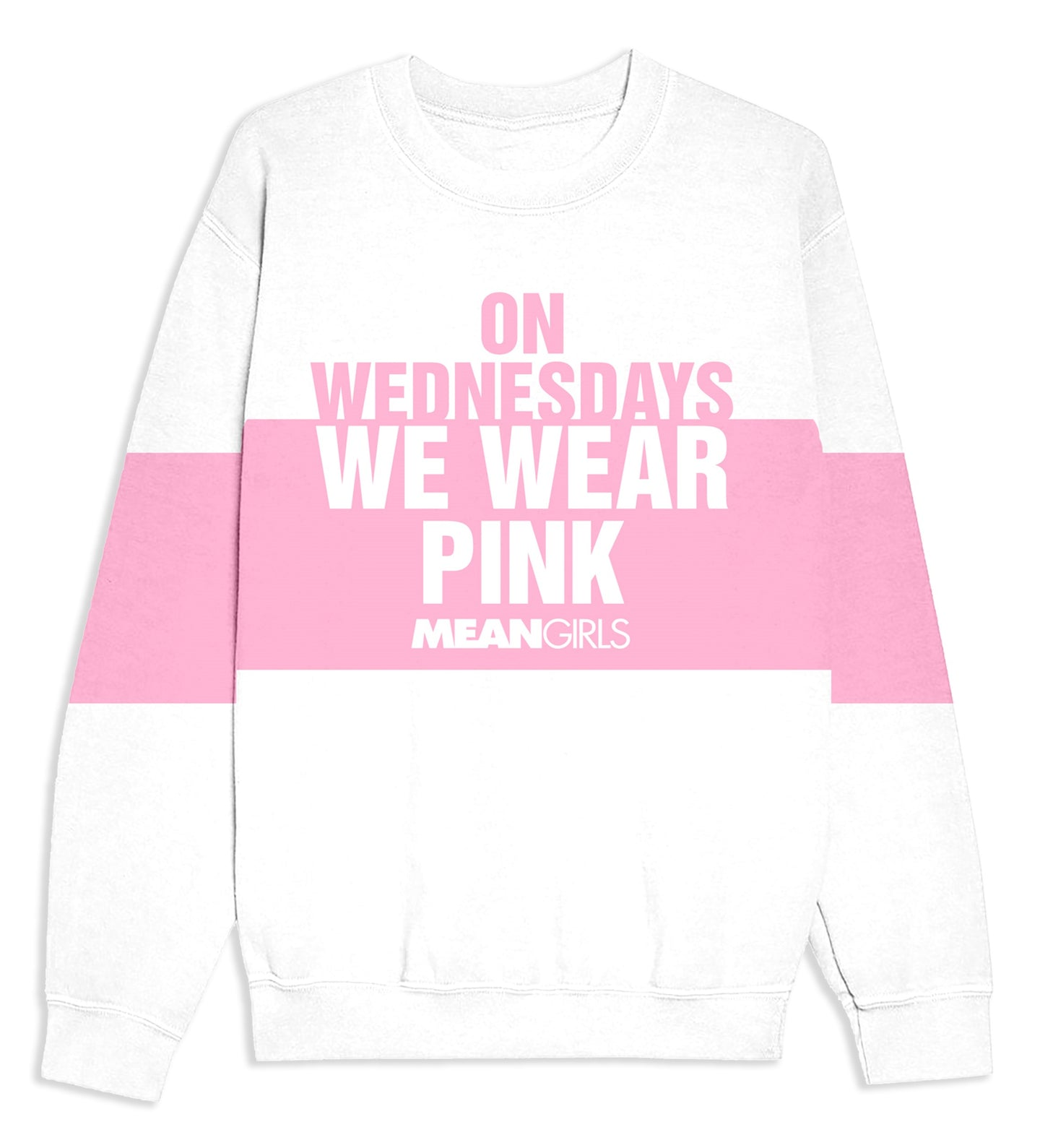 Mean Girls On Wdnesday White Sweat Shirt