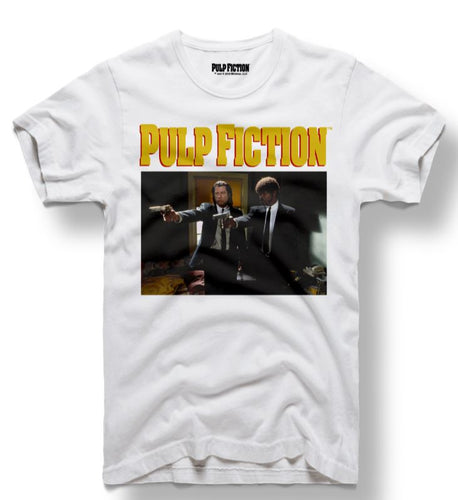 Pulp Fiction Gun Scene White Tee