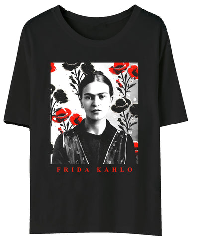 Frida Kahlo Black Tee