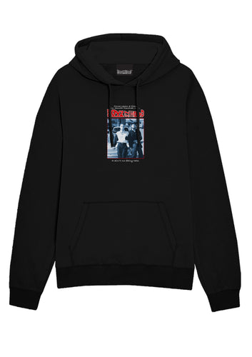 Boys In The Hood B&W Poster Black Hoodie