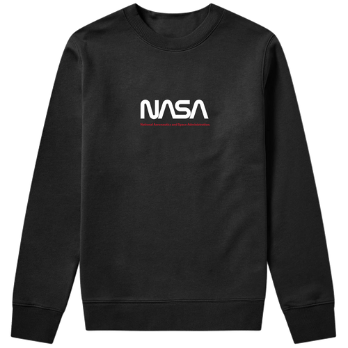 NASA Worm Black Sweatshirt